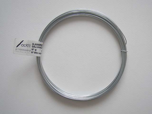 Comprar alambre galvanizado n 6 1 10mmx11m arcilla de - Alambre galvanizado manualidades ...