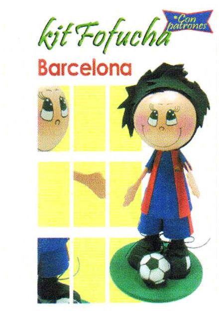 Comprar Goma Eva Kit Fofucha Barcelona | Arcilla de Metal | Tienda de