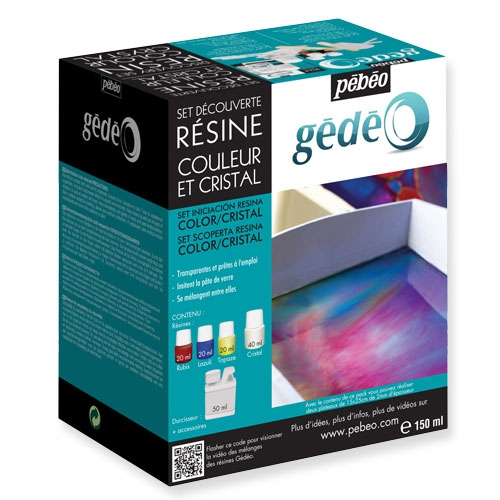 set iniciacin resina color y cristal 150ml pbo - Resine Color